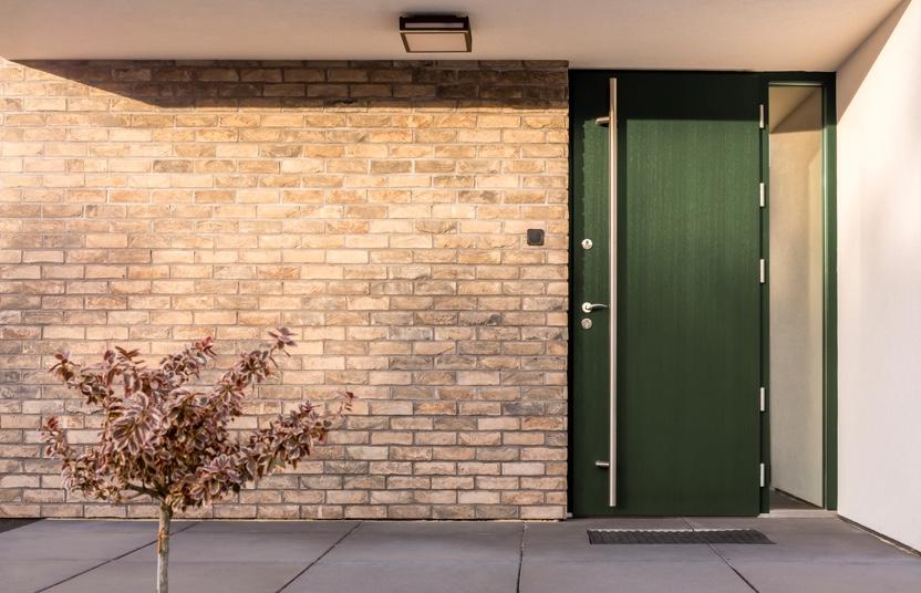 Haustür in Grün