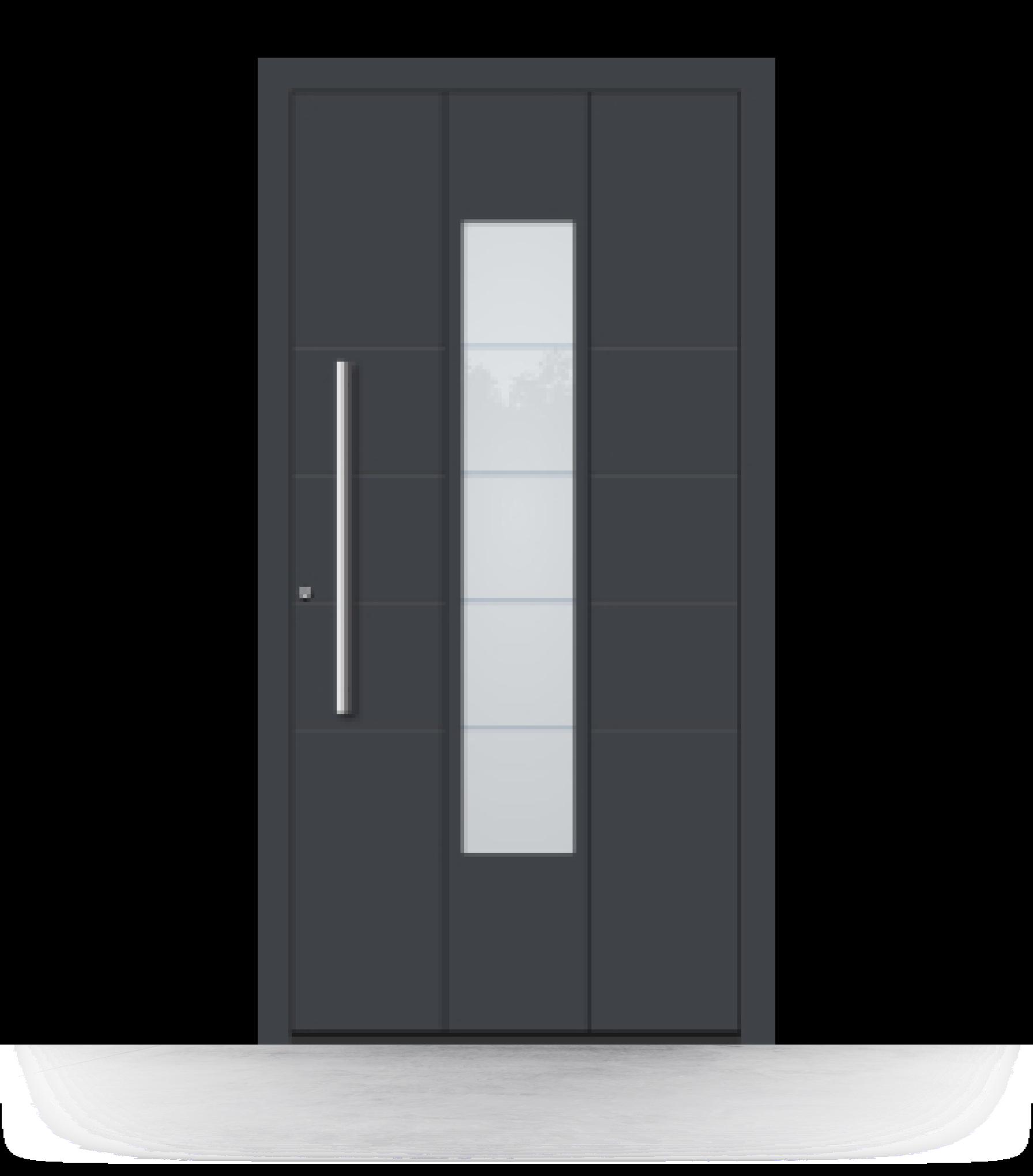 Haustür Anthrazit (RAL 7016) aus Aluminium online kaufen